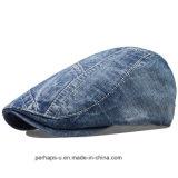 高品質の人のデニムの余暇の方法帽子のベレー帽の帽子