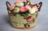 Crisol de flor hermoso de la madera contrachapada