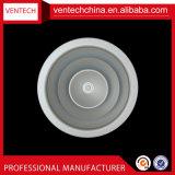 Diffuseur directionnel de l'air du système HVAC Couvercle d'aération en aluminium ronddiffuseur de plafond AC couvre d'aération