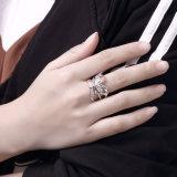 지르콘 나비 열려있는 반지 다이아몬드 형식 Woemn 반지