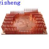 O dissipador de calor, o cobre ou o alumínio raspando, costume fazem
