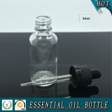 30ml 1oz Clear Glass Dropper botella con tapa a prueba de niños
