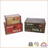 Antike hölzerne Möbel-multi Farben-dekorativer Kasten für Speicherung und Geschenk-Kasten für Geschenke