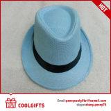 Chapéu de palha de papel do chapéu mole com a correia para o presente