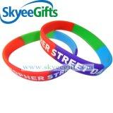 Wristband del silicone di segmento di disegno per la promozione