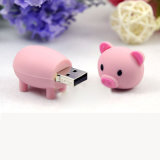 Bonitinha Cartoon Porco Rosa Pen Drive USB Flash Memory Stick