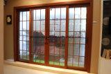 Woodwin Guangdong aluminio con doble puerta corrediza de vidrio