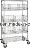 Crémaillère de casier métallique en métal de chrome de 3 rangées pour manifester commercial