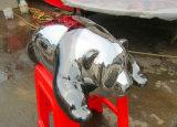 Симпатичная панда нержавеющей стали, напольный сад, нутряное украшение, скульптура подарка