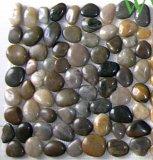 De natuurlijke Steen van de Steen van Kiezelstenen Witte en Zwarte Marmeren van Kiezelstenen,