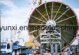Máquina de enrolamento horizontal para a fatura do tanque ou da embarcação de FRP