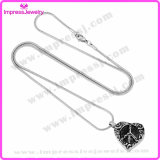 Urne-Halsketten für Aschen-ätzenden Inner-Anhänger Ijd9689