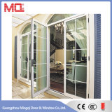 Puerta doble de aluminio del vidrio del oscilación