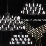 Candelabro acrílico do diodo emissor de luz do branco da alta qualidade para a sala de jantar