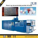 Máquina de termoconformado de plástico de PP de la taza del molde de la inclinación de la máquina con el apilador auto