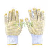 Дешевые ПВХ пунктирной вязки садоводство рабочие перчатки работы рукавицы En388