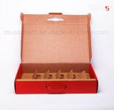 Rectángulos de encargo del vino del rectángulo de regalo del papel acanalado de la impresión en color de Pantone