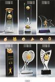 Prêmio de badminton Medalha troféu de cristal