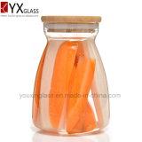 Опарник боросиликатного стекла высокого качества при загерметизированное стекло бака деревянной крышки герметичное консервирует бутылку 700ml 1100ml мха бака для хранения собрания большую