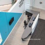 Bureau de réception classé par coutume extérieure solide acrylique de bureau