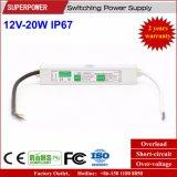 Alimentazione elettrica impermeabile costante di commutazione di tensione 12V 20W LED IP67