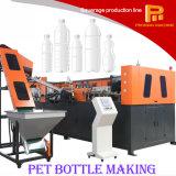 Estiramiento plástico del moldeo por insuflación de aire comprimido de la botella de agua del animal doméstico que hace la máquina