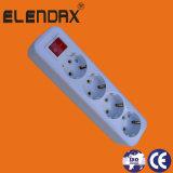 Zoccolo di potere multiplo dei 6 di Pin di estensione ABS ritrattabili dello zoccolo con l'interruttore (E8006ES)