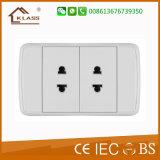 Soquete elétrico de botão de 3 pólos