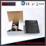 Tipo 245X60mm hueco de cerámica del calentador de infrarrojos