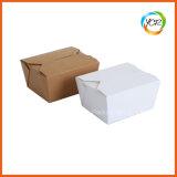Weißer Brown-Papier-Verpacken- der Lebensmittelsalat-Sushi-Mittagessen-Wegwerfkasten