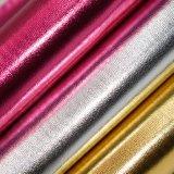 Faux-metallisches vereiteltes Schaf-Korn Belüftung-Leder für Beutel-Schuh