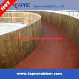 Red Dog-Bone Pavers Rubber Brick Tile