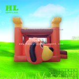 Personalizzato Caldo-Vendendo combinato gonfiabile di figura sveglia del cane con la piccola trasparenza per i capretti che divertono il gioco di salto di sport
