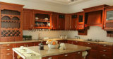 Projeto clássico da cozinha da cereja