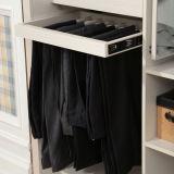 White Built-in Modern Closed Louver Sliding Wooden Bedroom Wardrobe (YG11319)