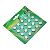 Batteria alcalina personalizzata delle cellule della moneta del contrassegno Lr44 1.5V