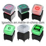 Contrôleur audio 5A 6p Dpdt SMT Soft Touch Interrupteur bouton poussoir tactile