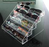 Acrylique clair 4, 5, présentoir 6 de rangée de monocle en verre de lunettes de soleil