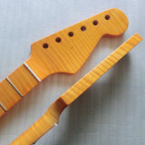 22 Fret One Piece Flamed Maple Strat Guitar Neck