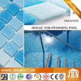 De blauwe Gemengde Tegel van het Mozaïek van het Glas van het Zwembad van de Kleur (H420010)
