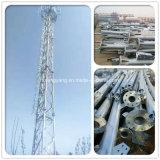 40 torretta chiara di telecomunicazione solare galvanizzata tester dell'antenna tubolare fornita di gambe dell'albero 3