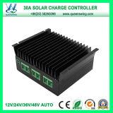 2016 12V/24V/36V/48V 30A Contrôleur de charge solaire (QWSR-LG4830)