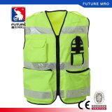 Veste impermeável da segurança do trabalho de Reflectitive com os bolsos feitos da tela de 600d Oxford