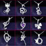 925純銀製の宝石類の水晶金属の優雅な銀製のチョークバルブのネックレス