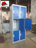 Kast van de Opslag van de Kleedkamer van de Gymnastiek van het Metaal van het Kantoormeubilair van de Kwaliteit van China De Blauwe