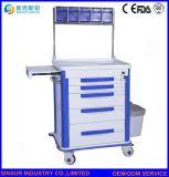 中国の供給の病院のクリニックの使用のABS多機能の医学の麻酔のトロリー