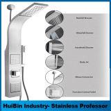 El panel de múltiples funciones de la torre de la ducha de la instalación del acero inoxidable del montaje fácil de la pared con el aerosol de la cascada y del masaje de la precipitación