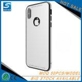 Алюминиевый случай телефона рамки с Tempered стеклом на iPhone x