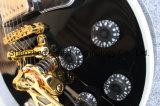 Гитара изготовленный на заказ джаза Lp оборудования приемистостей черноты 3 золотистого электрическая (GLP-530)