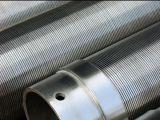 Tubo de tela de filtro de fio de cunha de aço inoxidável